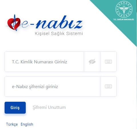 E-Nabız şifresi al