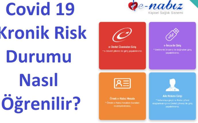 E-Nabız covid 19 risk raporu