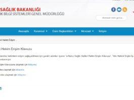 E-Nabız doktor erişim açma