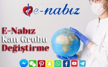 E-Nabız kan grubu değiştirme